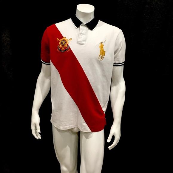 Ralph Lauren Mens White Crest Big Pony Polo Shirt